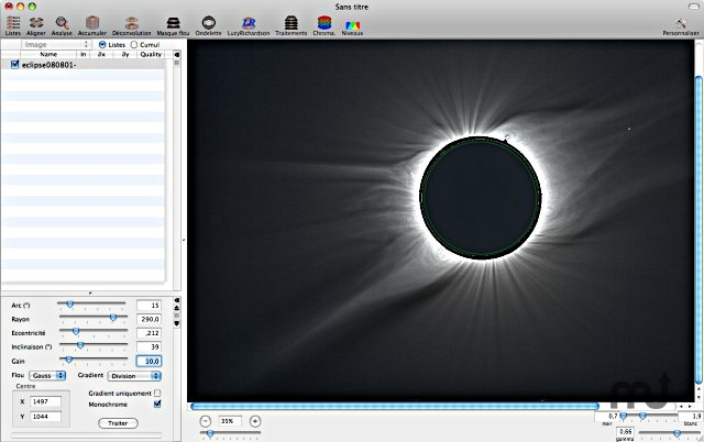 Screenshot 1 for Lynkeos Eclipse Chaser Plugin Pack