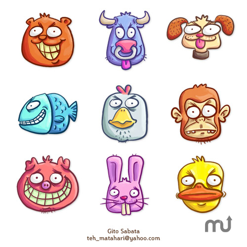 Screenshot 1 for 9 Loony Animals Icon Pack