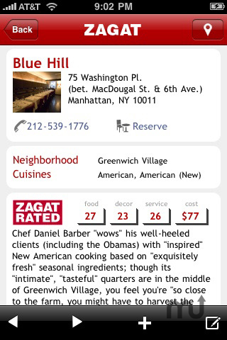 Screenshot 1 for ZAGAT TO GO