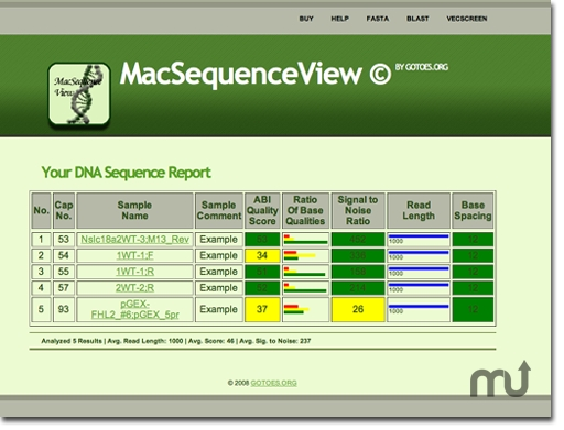 Screenshot 1 for Mac Sequence Viewer Suite