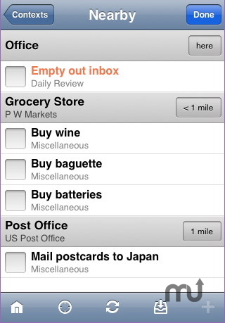Screenshot 1 for OmniFocus for iPhone