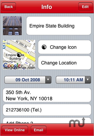Screenshot 1 for Schmap Place Saver