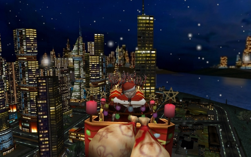 Screenshot 1 for Santa and the City 3D Christmas Screen Saver