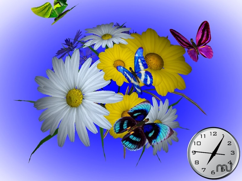 Screenshot 1 for Wonderful Flowers 3D Screensaver