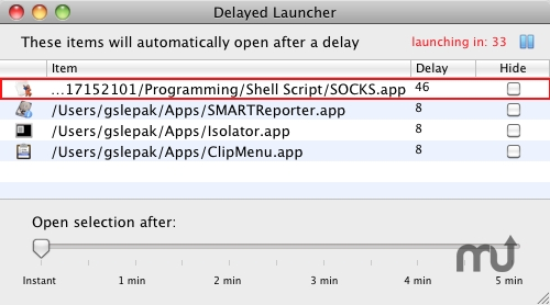 Screenshot 1 for DelayedLauncher