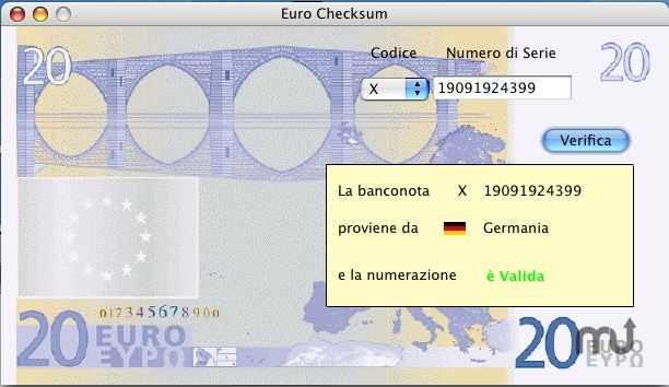 Screenshot 1 for Euro Checksum