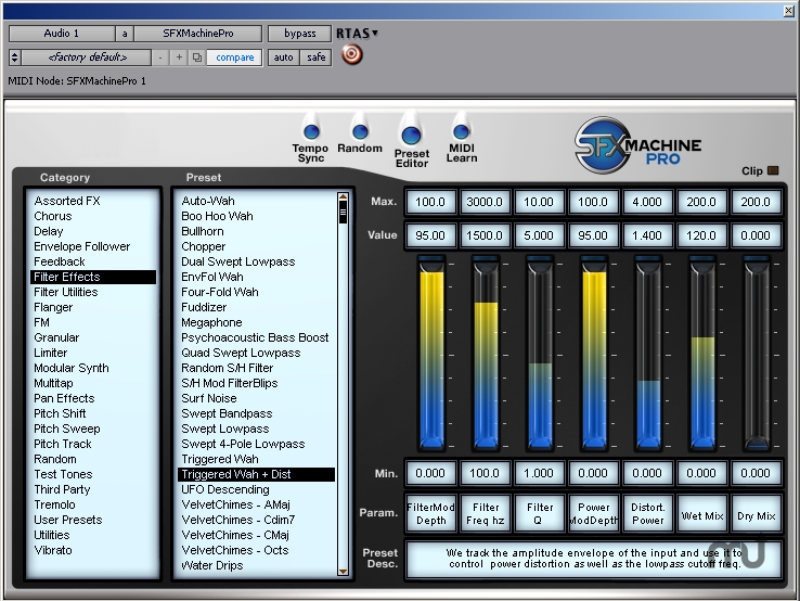 Screenshot 1 for SFX Machine Pro for RTAS