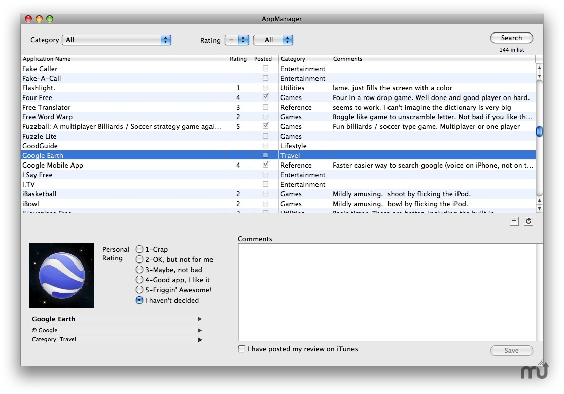 Screenshot 1 for AppManager