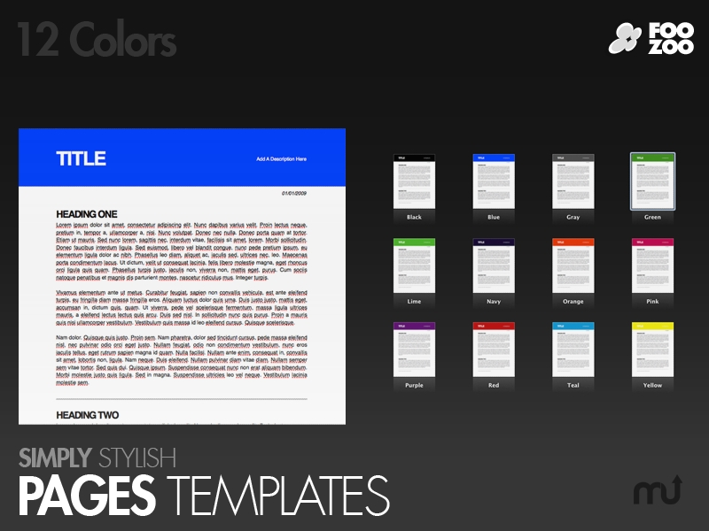 Simply Stylish Pages Templates for Mac : Free Download : MacUpdate