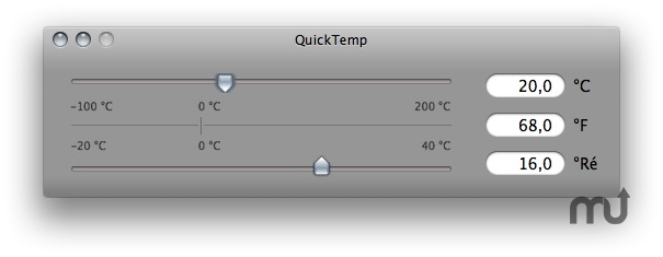 Screenshot 1 for QuickTemp Desktop
