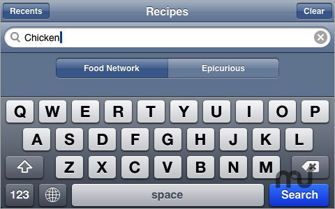 Screenshot 1 for iRecipes