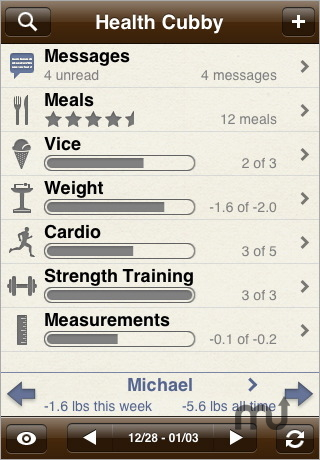 Screenshot 1 for Health Cubby - Social Fitness