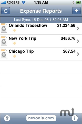 Screenshot 1 for Expense Reports