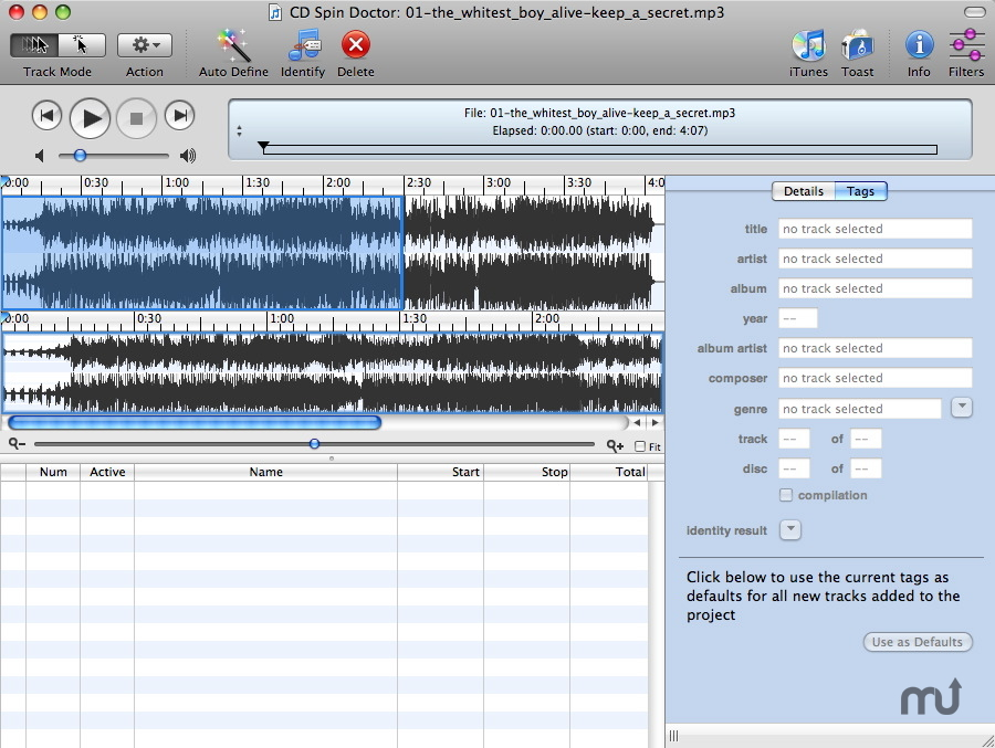 Screenshot 1 for CD Spin Doctor