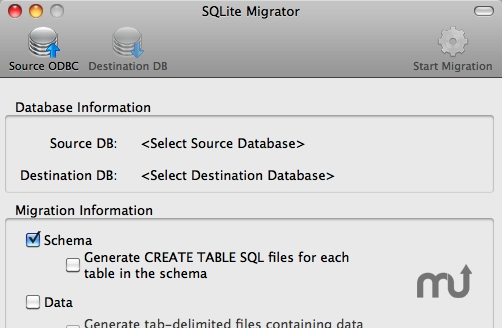 Screenshot 1 for SQLite Migrator