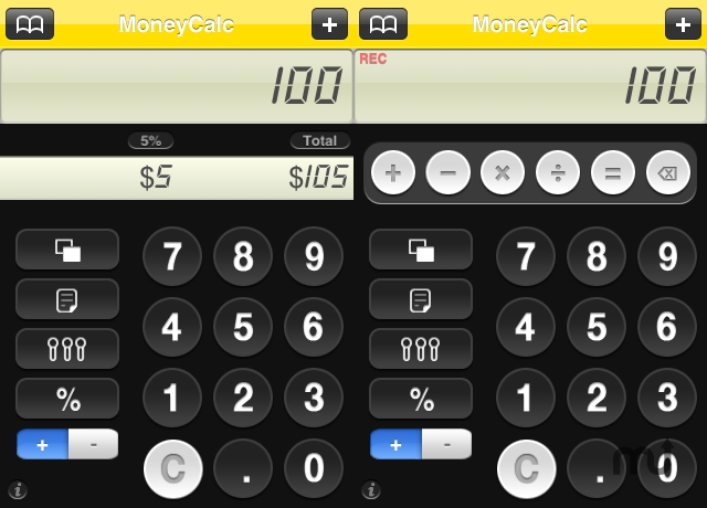 Screenshot 1 for MoneyCalc