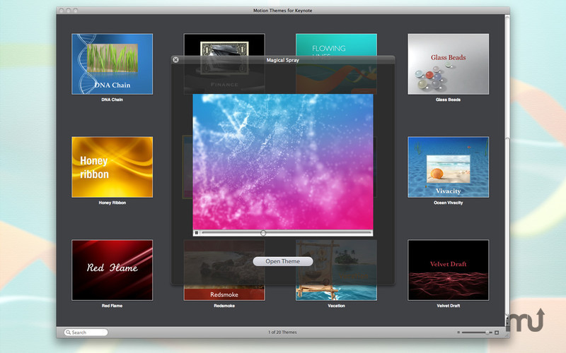 Screenshot 3 for Motion Themes for Keynote