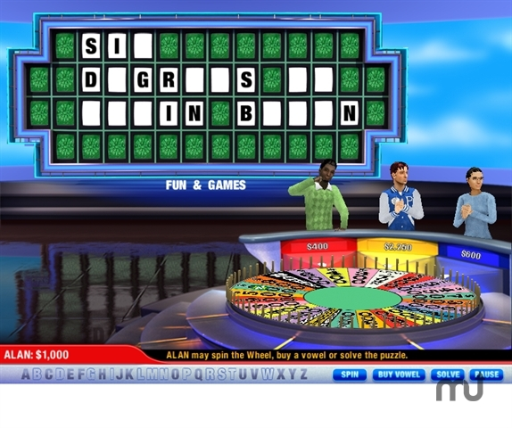 Screenshot 1 for Wheel of Fortune Super Deluxe