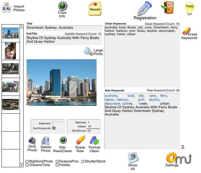 Screenshot 1 for Stock Photo Catalog