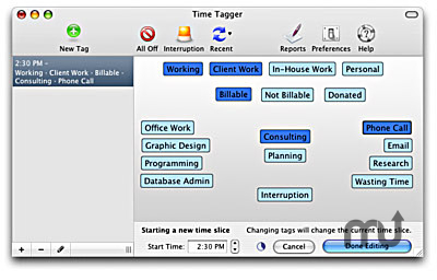 Screenshot 1 for Time Tagger