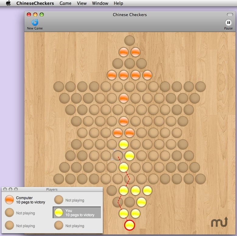 Screenshot 1 for Chinese Checkers
