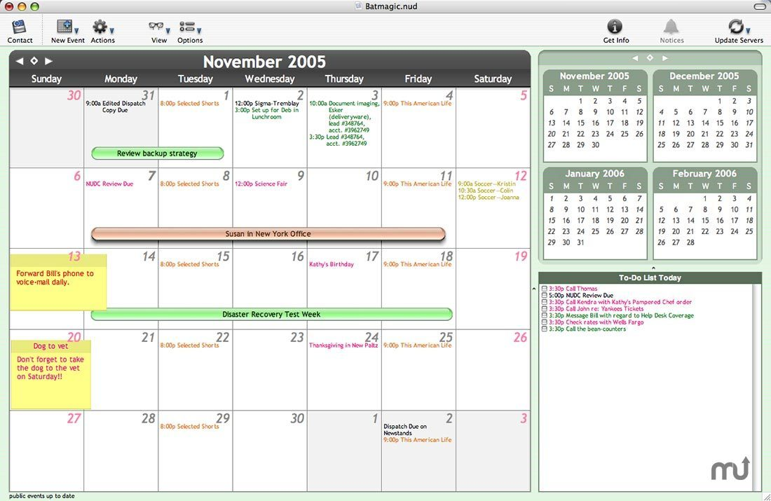 Screenshot 1 for NUD to iCal