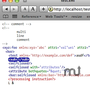 Screenshot 1 for XML View Plugin