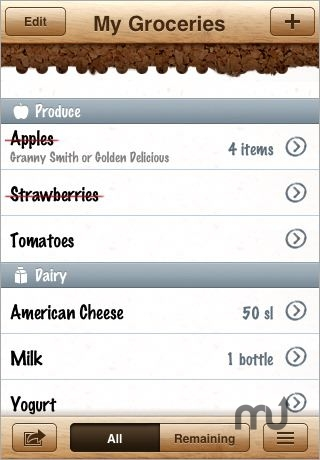 Screenshot 1 for Groceries - Grocery shopping today