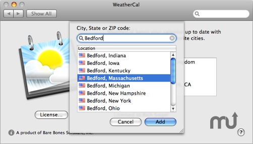 Screenshot 1 for WeatherCal