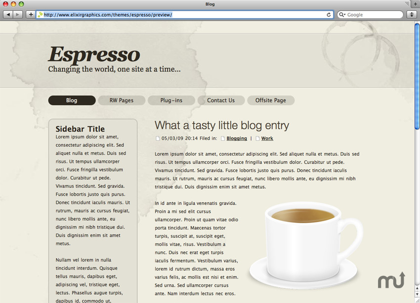 Screenshot 1 for Espresso theme