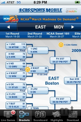 Screenshot 1 for CBS Sports NCAA March Madness On Demand