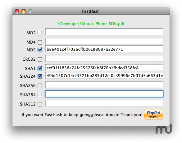 Screenshot 1 for FastHash