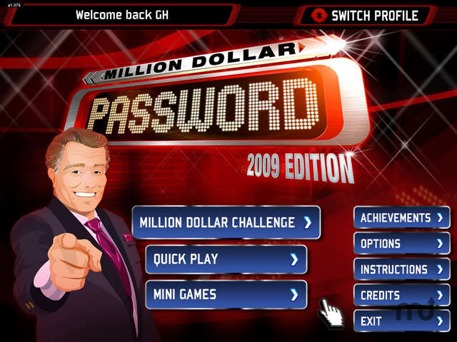 Screenshot 1 for Million Dollar Password 2009