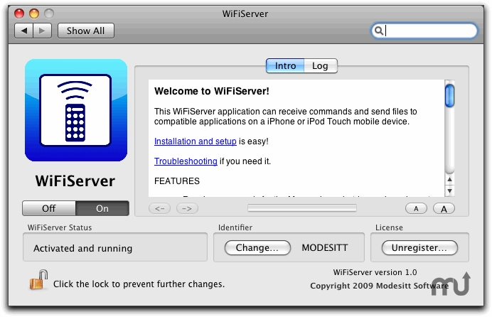 Screenshot 1 for WiFiServer