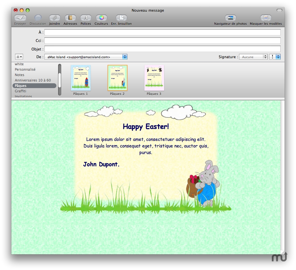 Screenshot 1 for Easter Mail Stationery Pack