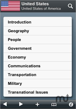 Screenshot 1 for The World Factbook '09