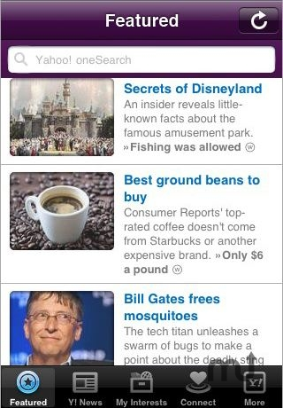 Screenshot 1 for Yahoo!