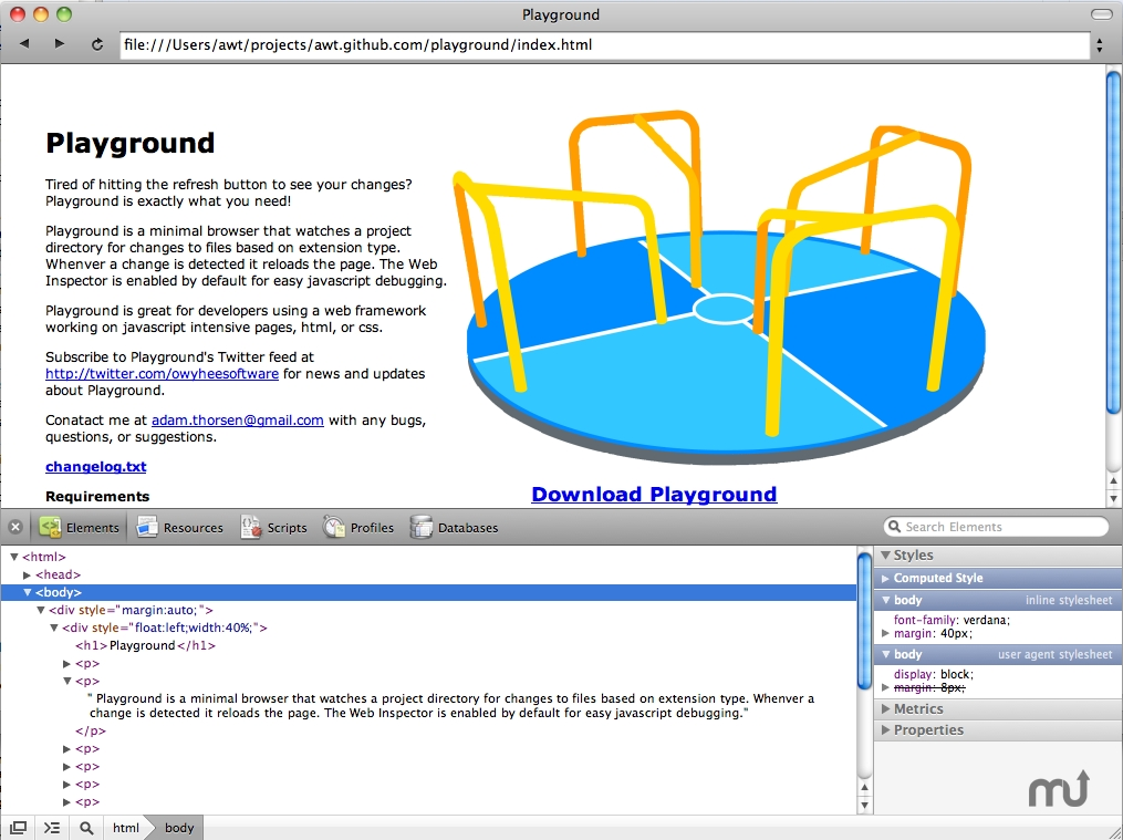 Screenshot 1 for Playground