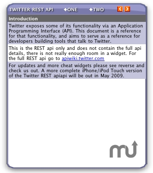 Screenshot 1 for Twitter REST api Chat Widget