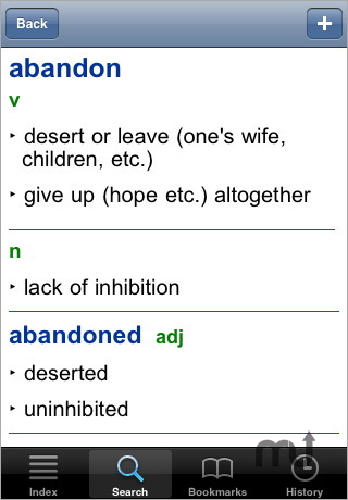 Screenshot 1 for Collins Gem English Dictionary and Thesaurus