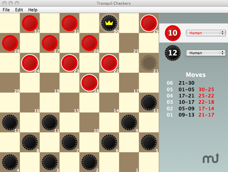 Screenshot 1 for Tranquil Checkers