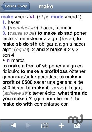 Screenshot 1 for Collins Spanish Dictionary & Grammar