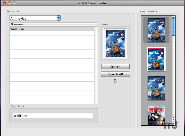 Screenshot 1 for WDTV Cover Finder