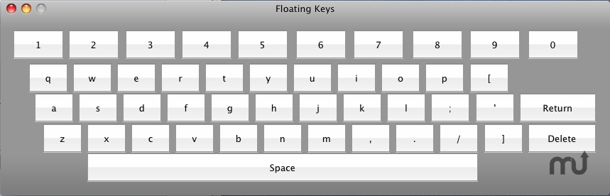 Screenshot 1 for Floating Keys