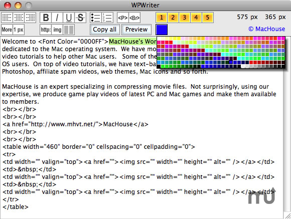 Screenshot 1 for WPWriter