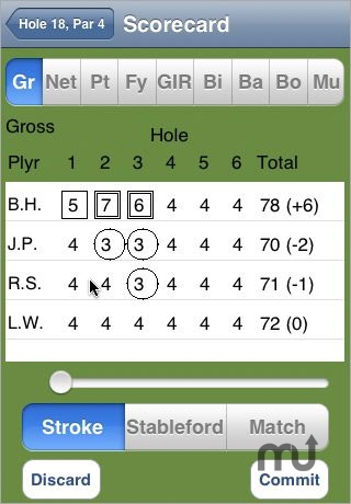 Screenshot 1 for GolfScorer