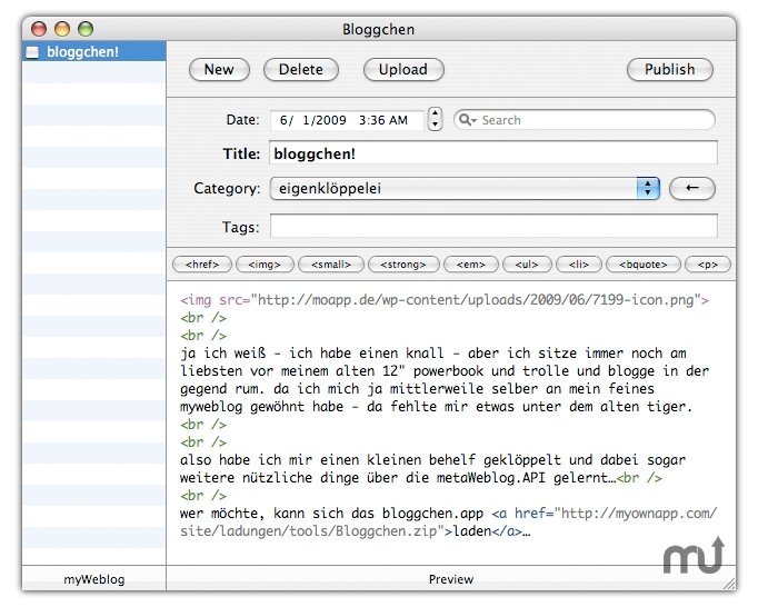 Screenshot 1 for Bloggchen