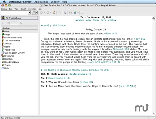 Screenshot 1 for Watchtower Library for Mac