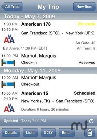 Screenshot 1 for TravelTracker Pro