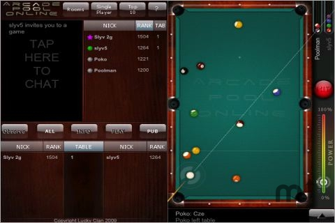 Screenshot 1 for Arcade Pool Online